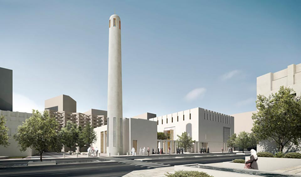 Jumaa Mosque, Doha Daylight and Solar Design by GIA