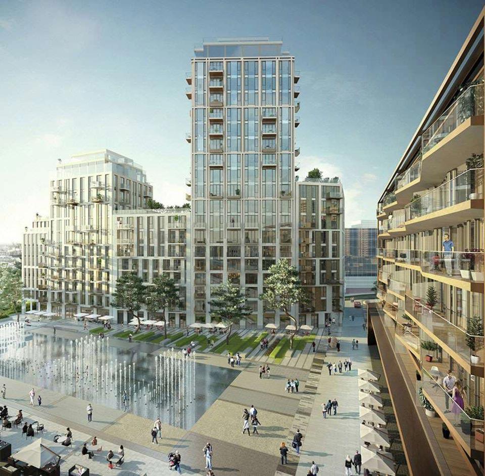 GIA London Dock Daylight & Solar Design CGI
