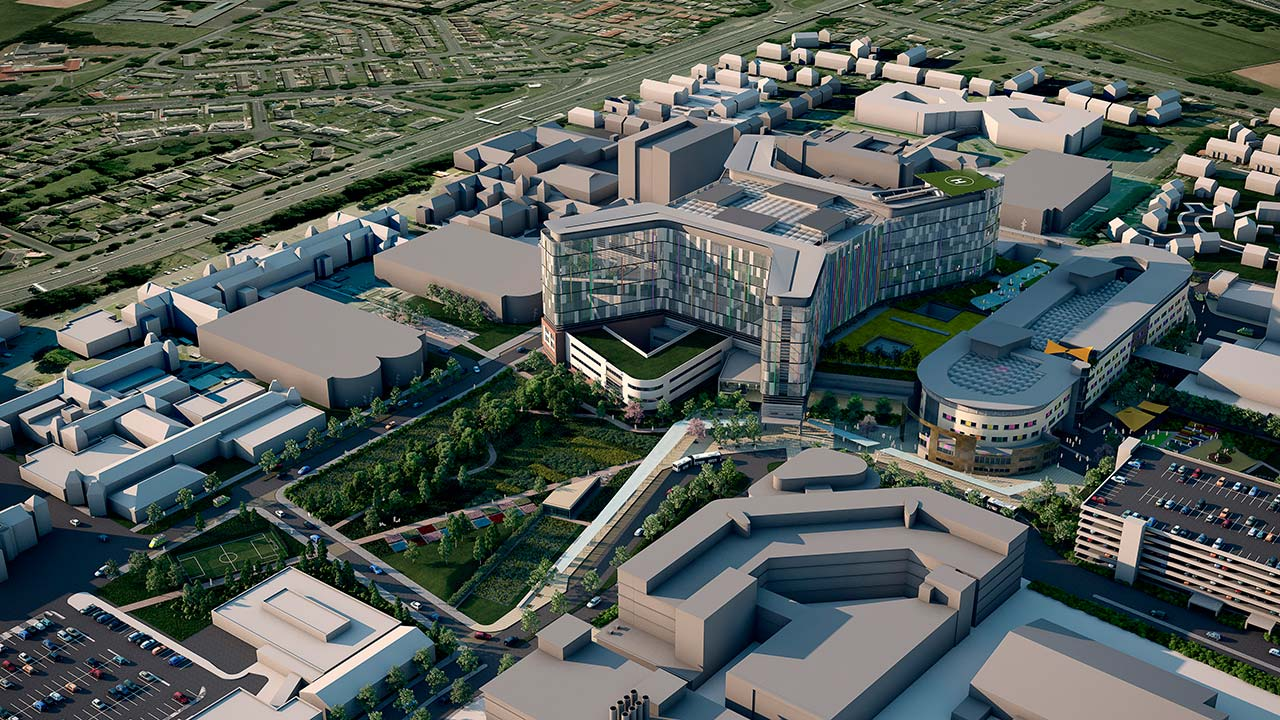 Wagstaffs 3D Visualisation CGI Glasgow Hospital